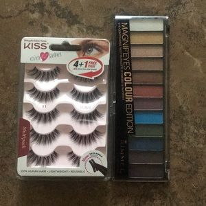 Rimmel eyeshadow and kiss lashes